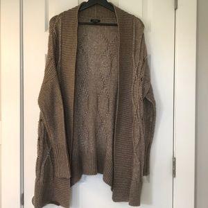 Tan Sweater Cardigan SZ M